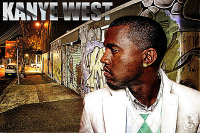 Jay Z Wall Art - Digital Art - Street Phenomenon Kanye West by The DigArtisT