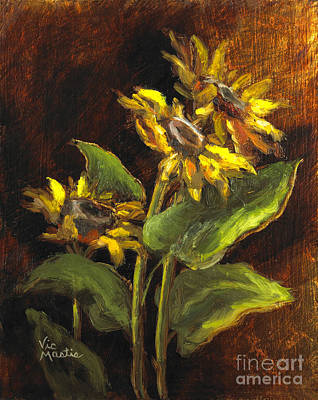 Painting - Sunflower Surprise by Vic  Mastis