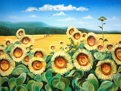 Painting - Sunflowers by Gina De Gorna