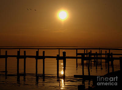 Sunset At Cobb Island Art Print by Ursula Lawrence