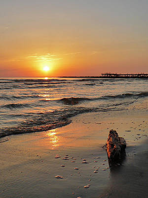 Sunset At Sea Coast Art Print by Aleksandr Volkov