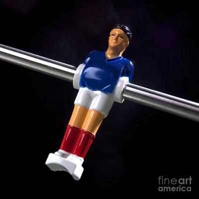 Tabletop Soccer Figurine Art Print