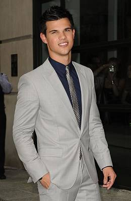 Gray Suit Photograph - Taylor Lautner At Arrivals For The by Everett