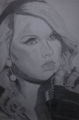 Taylor Swift Drawing - Taylor Swift Artwork by Richie Wentworth