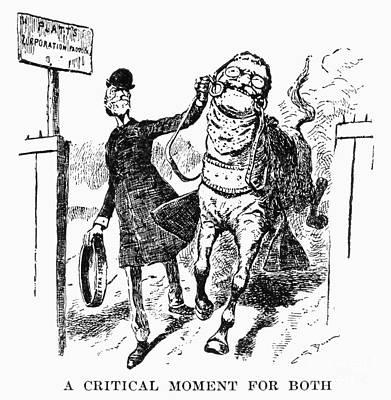 Teddy Roosevelt Cartoon Art Print by Granger