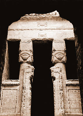 Hathor Photograph - Temple Of Hathor by Photo Researchers, Inc.