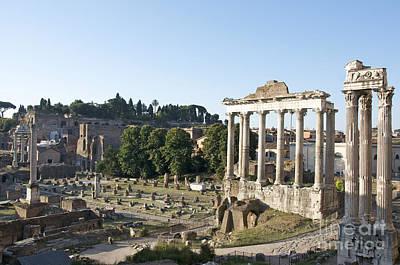 Temple Of Saturn In The Forum Romanum. Rome Art Print