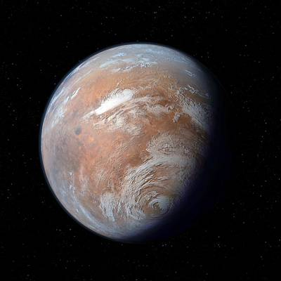 Terraform Photograph - Terraformed Mars, Artwork by Detlev Van Ravenswaay