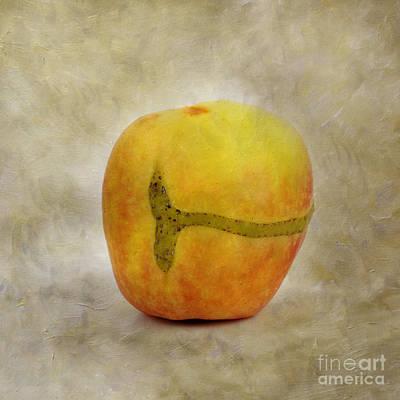 Foodstill Photograph - Textured Apple by Bernard Jaubert
