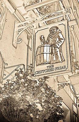 Crutch Digital Art - The Crutched Friar Public House by David Pyatt