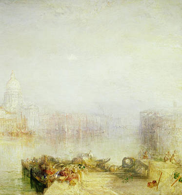 Venetian Architecture Painting - The Dogana And Santa Maria Della Salute Venice by Joseph Mallord William Turner