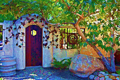 Ironwork Digital Art - The Door To The Garden by Patricia Stalter