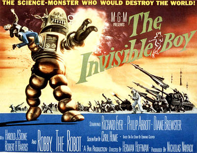 The Invisible Boy, Robby The Robot Art Print by Everett
