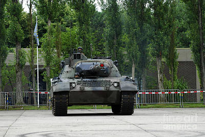 The Leopard 1a5 Mbt Of The Belgian Army Art Print by Luc De Jaeger