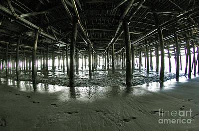 Wood Pylons Photograph - The Santa Monica Pier by Micah May