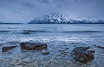 Kathleen Photograph - The Shoreline Of Kathleen Lake In Late by Robert Postma