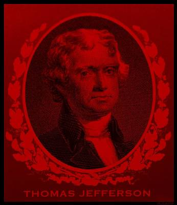 Kids Alphabet - THOMAS JEFFERSON in RED by Rob Hans