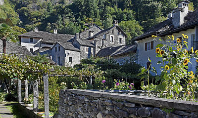 Stone House Photograph - Ticino by Joana Kruse