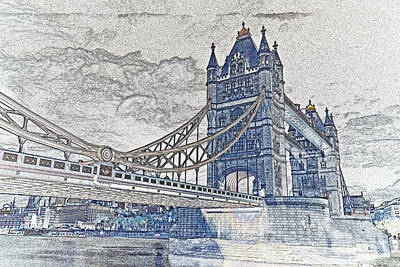 Tower Bridge Art Art Print