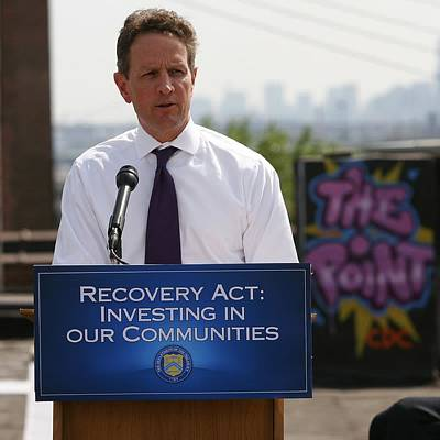 Treasury Secretary Timothy Geithner Art Print