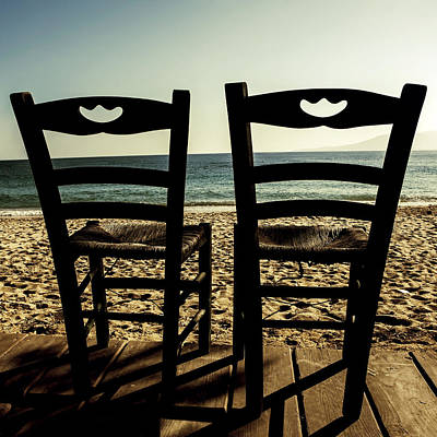 Wooden Chair Photograph - Two Chairs by Joana Kruse