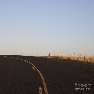 Two Lane Road Between Fields Art Print by Jetta Productions, Inc