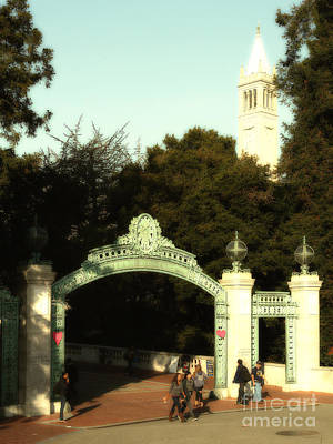 Photograph - Uc Berkeley . Sproul Plaza . Sather Gate And Sather Tower Campanile . 7d10027 by Wingsdomain Art and Photography
