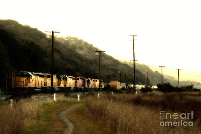 Photograph - Union Pacific Locomotive Trains . 7d10558 by Wingsdomain Art and Photography