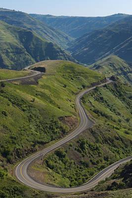 Usa, Washington, Asotin County, Mountain Road Art Print by Gary Weathers