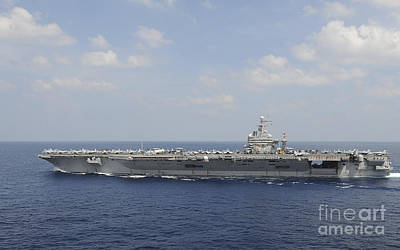 Uss Abraham Lincoln Transits The Indian Art Print by Stocktrek Images