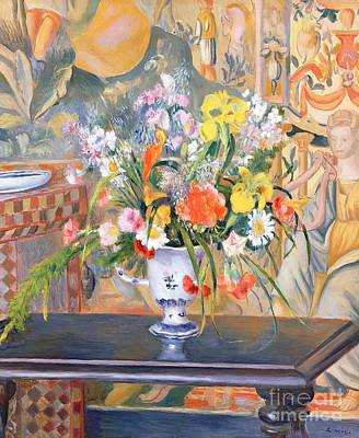 Pottery Painting - Vase Of Flowers by Pierre Auguste Renoir