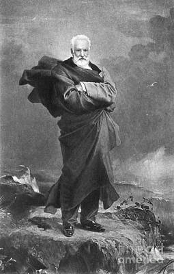 Hunchback Of Notre Dame Photograph - Victor Hugo, French Author by Photo Researchers