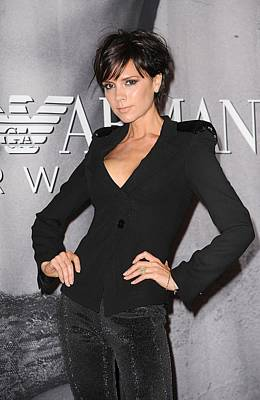 Victoria Beckham At In-store Appearance Art Print
