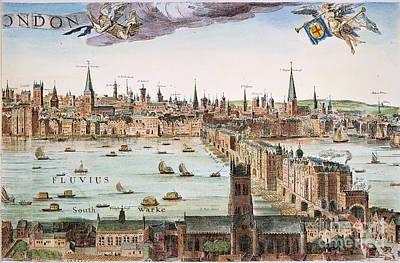 1616 Photograph - Visscher: London, 1616 by Granger
