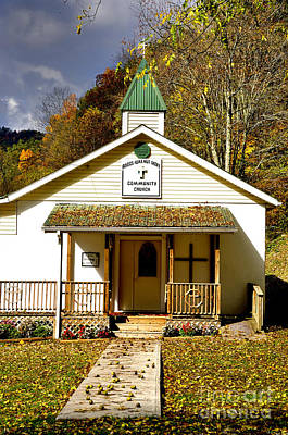 Black Walnut Photograph - Walnut Grove Community Church  by Thomas R Fletcher