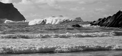 Photograph - Waves At Clogher Beach by Barbara Walsh