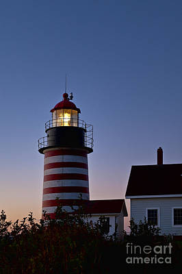 West Quoddy Head Lighthouse Art Print by John Greim