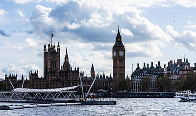 London Skyline Photograph - Westminster by Dawn OConnor