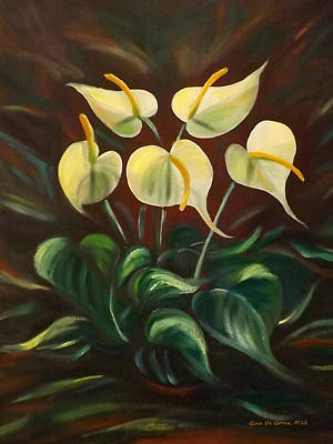 Painting - White Flowers by Gina De Gorna