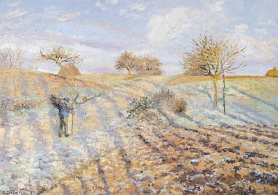 Winter Light Painting - White Frost by Camille Pissarro