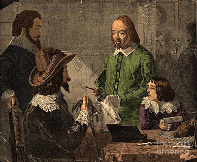 William Harvey, English Physician Art Print by Photo Researchers