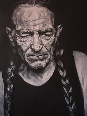 Willie Nelson Drawing - Willie Nelson by Steve Hunter