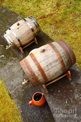 Wine Barrels Print by Gaspar Avila