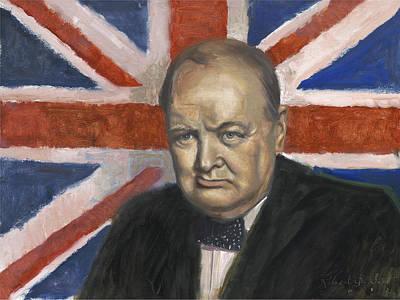 Steadfast Painting - Winston Churchill by Robert Scott