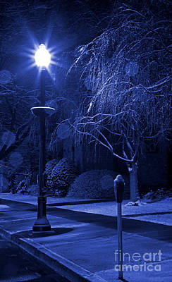 Photograph - Winter Sidewalk Blues by John Stephens