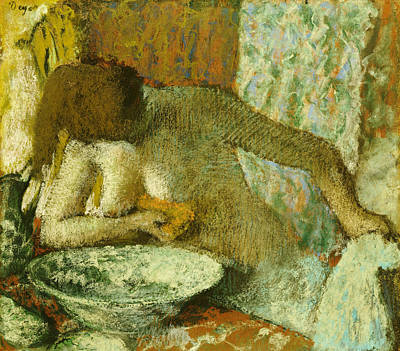 Woman At Her Toilet Art Print by Edgar Degas