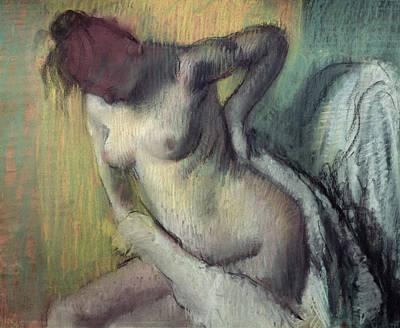 Woman Drying Herself Art Print by Edgar Degas