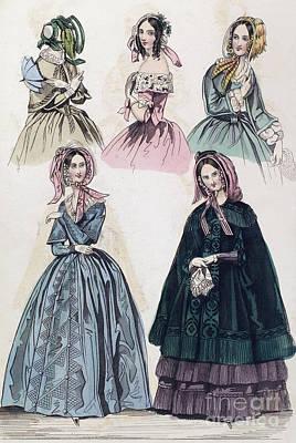Womens Fashion, 1842 Art Print by Granger