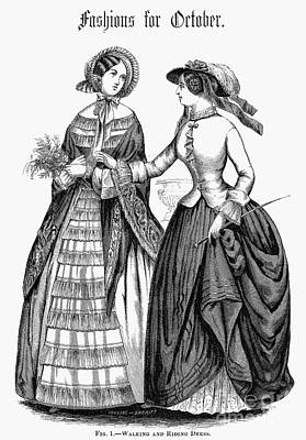 Equestrian Fashion Photograph - Womens Fashion, 1851 by Granger