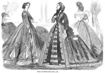 Photograph - Womens Fashion, 1865 by Granger